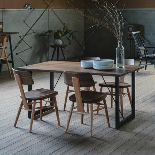 ウォールナットとオークのチェア MUSHROOM Chair