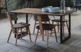ウォールナット無垢材とレッドオーク無垢材の椅子