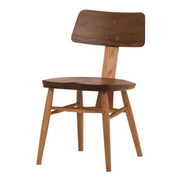 ウォールナット無垢材とレッドオーク無垢材のMUSHROOM Chair