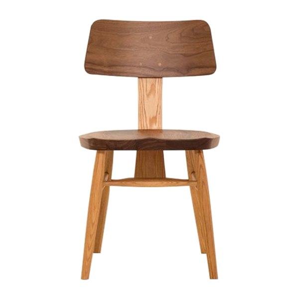 ウォールナットとオークのMUSHROOM Chair