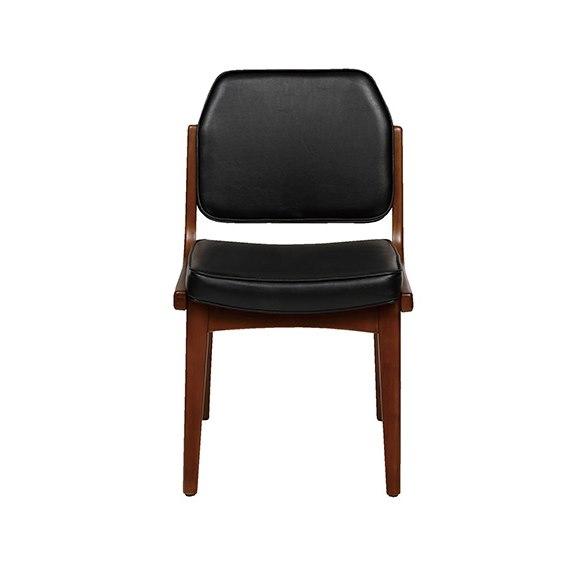 レザーと木のオシャレな椅子