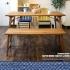 幅115㎝の木製ベンチ