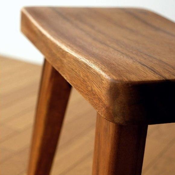 モンキーポッド無垢材スツールの座面
