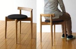 背もたれが低い椅子