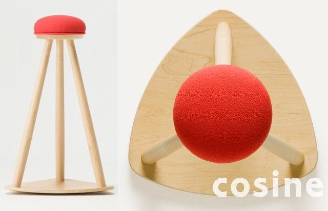 cosine(コサイン) 赤い帽子のキッチンスツール