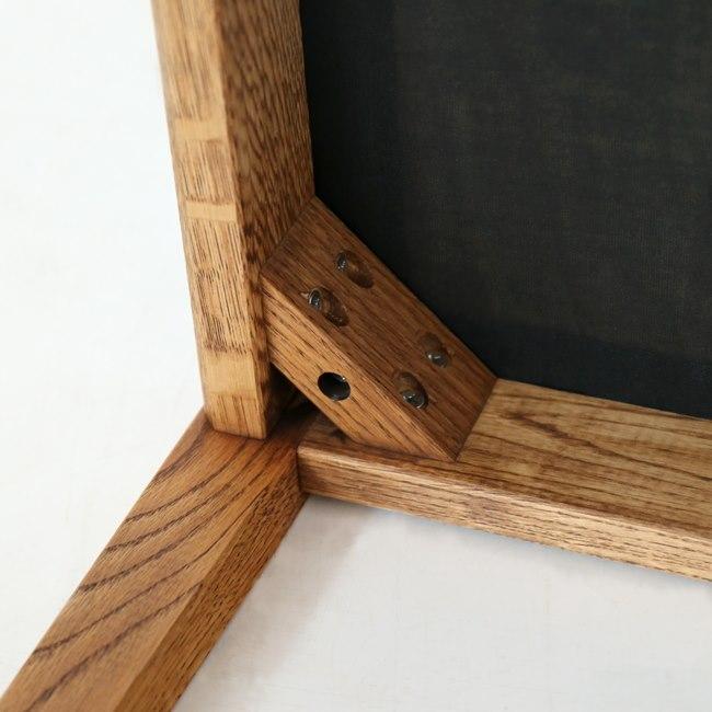 ナラ無垢材スツールの座面裏側
