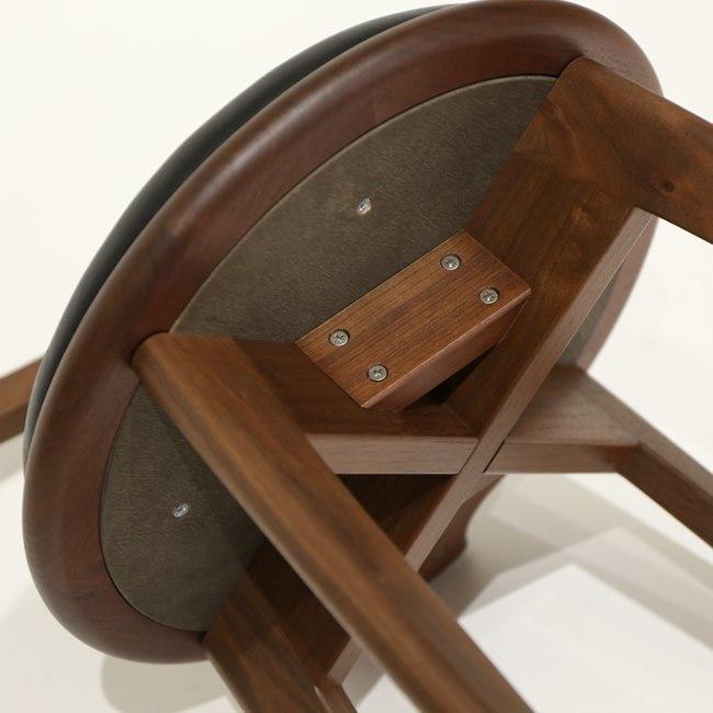 回転椅子の座面裏側