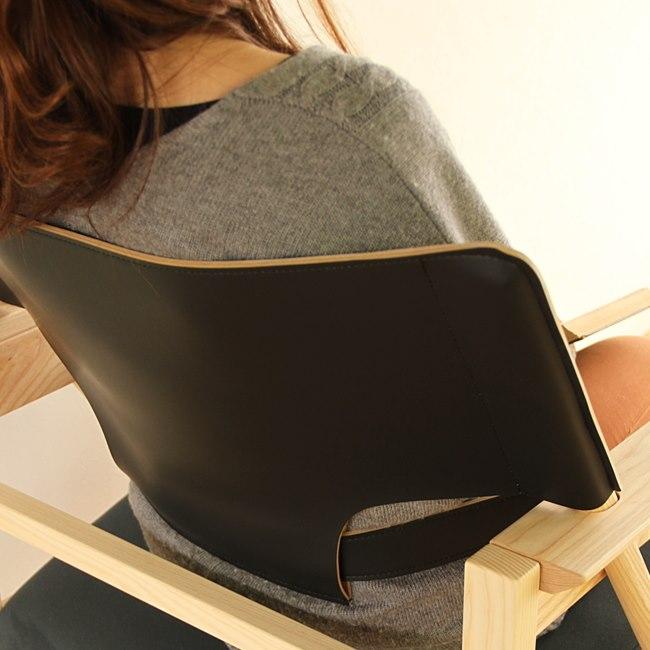 黒革の椅子