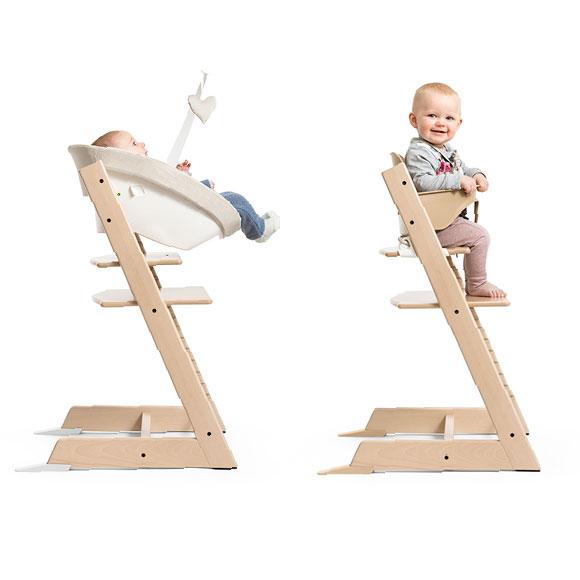 トリップトラップに座る赤ちゃん