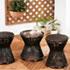アジアン家具の籐スツール