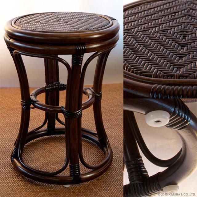 アジアン家具のラタンスツール