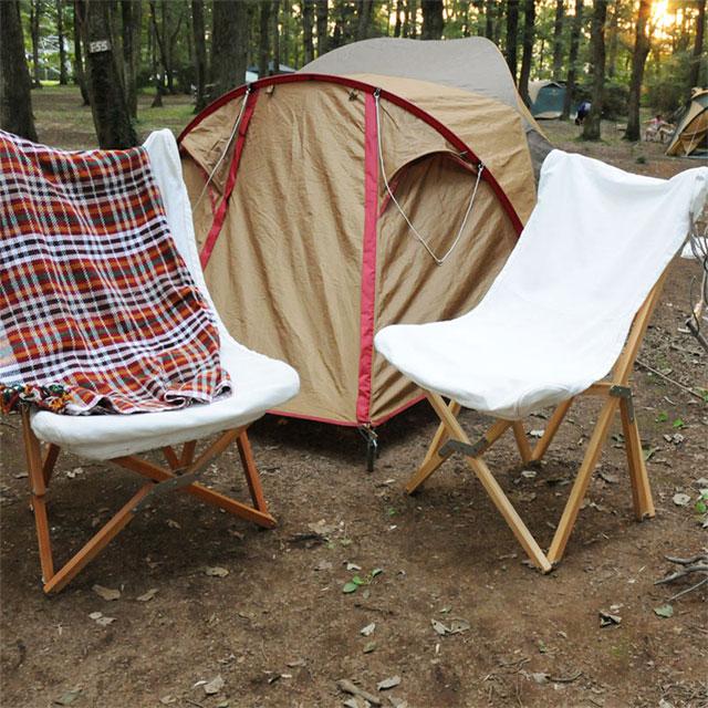 キャンプにおしゃれな椅子