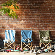 DULTON WOODEN BEACH CHAIR