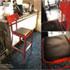 ダルトンの赤いスチールの椅子
