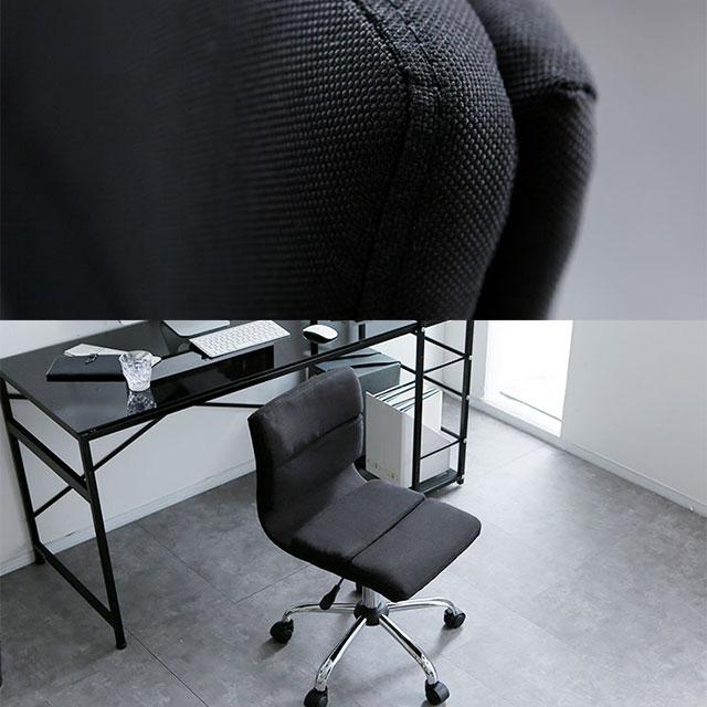 ブラックのスタイリッシュなオフィスチェア