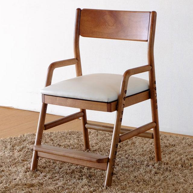 ISSEIKI 学習椅子 フィオーレ・デスクチェア ブラウン