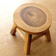 木製ミニ・スツール