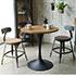 インダストリアル系のスチールと木の椅子