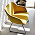お洒落な黄色い椅子