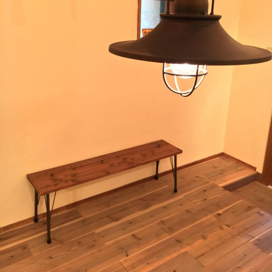 幅120㎝ 杉無垢材のベンチ