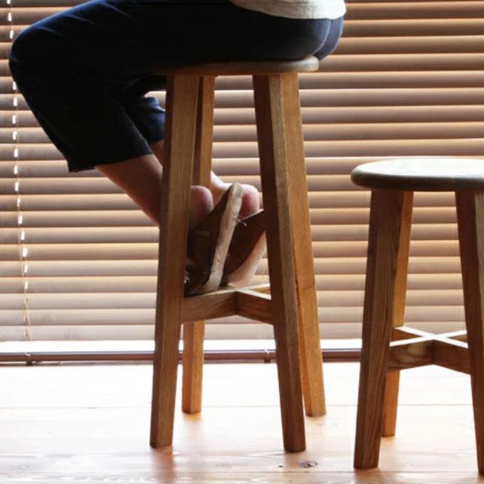 松野屋 日本の丸椅子 大