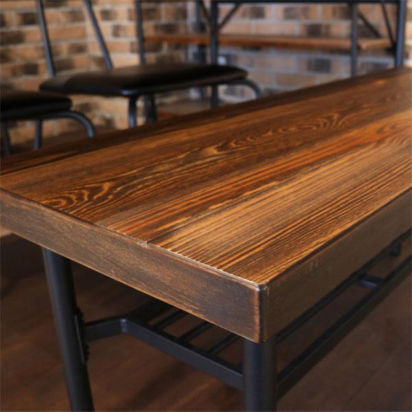 アンティーク調ベンチのパイン材天板