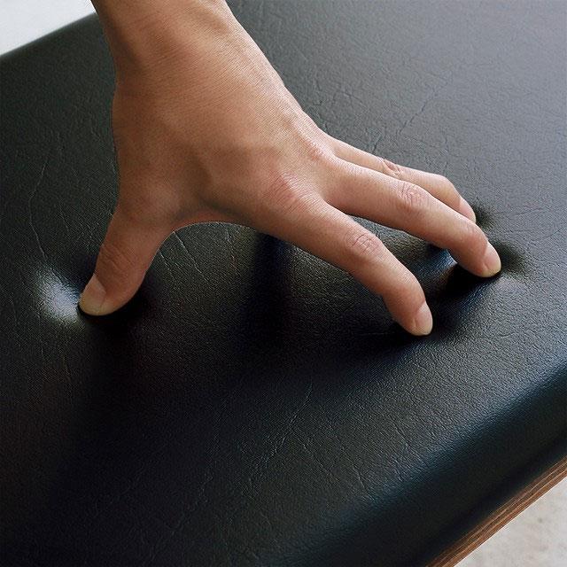 PVCレザーをシートに使った幅100cmベンチ