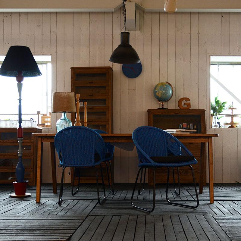 おしゃれな青い椅子|エヴリン・ロープ・チェア