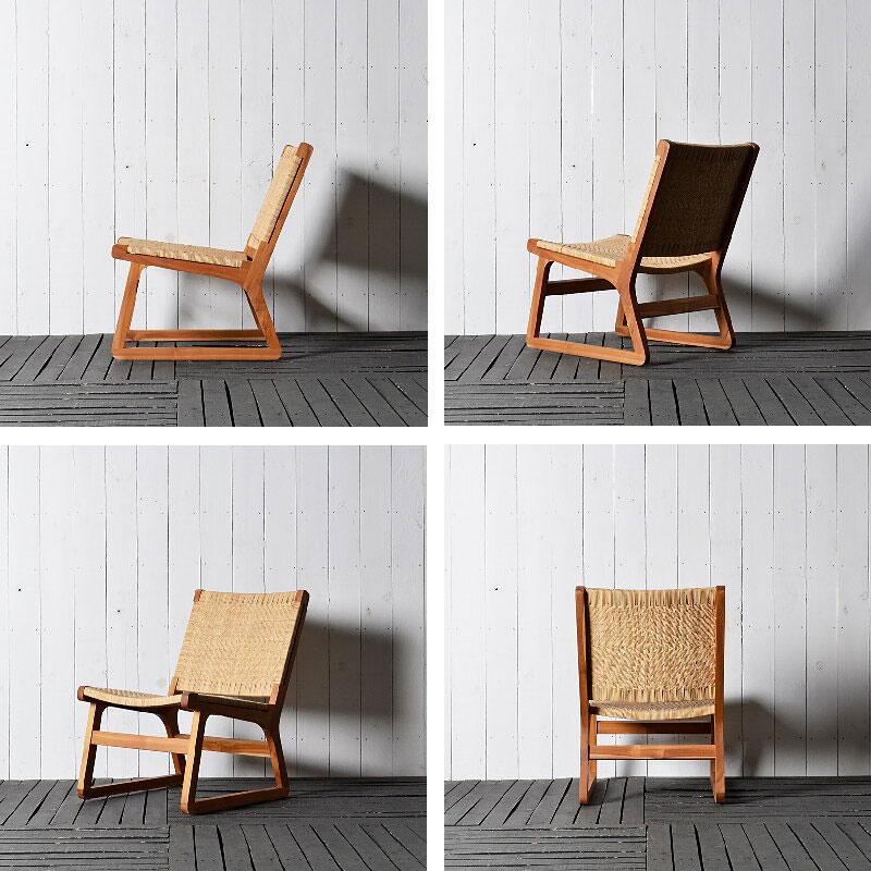 アジアン家具の低い椅子