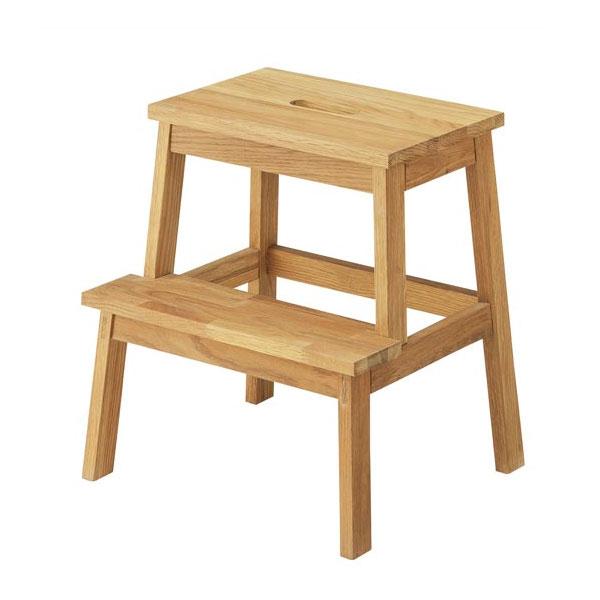 おしゃれな木製の踏み台 2段