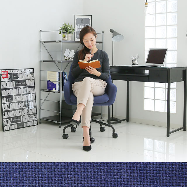ブルーのオフィスチェア