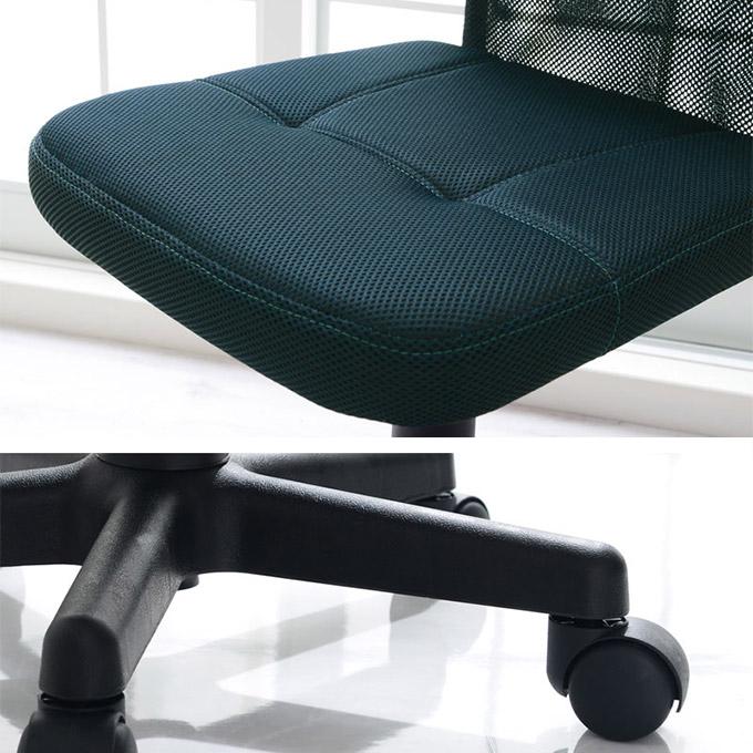 4000円台オフィスチェアの座面と脚