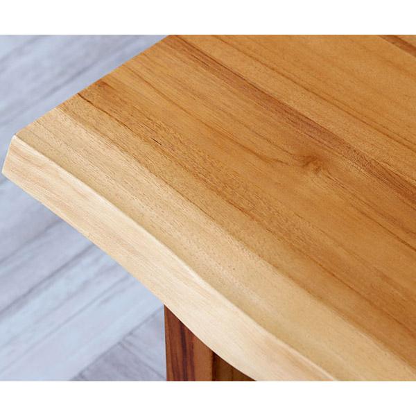 チーク無垢材ベンチの天板