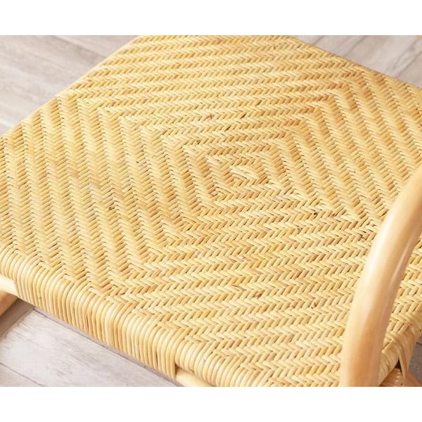 ラタン網代編み仕上げの座面