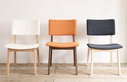 座り心地のいい無垢材の椅子 TOPOダイニングチェア