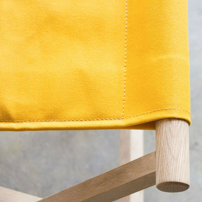 おしゃれな折りたたみ椅子|イエロー