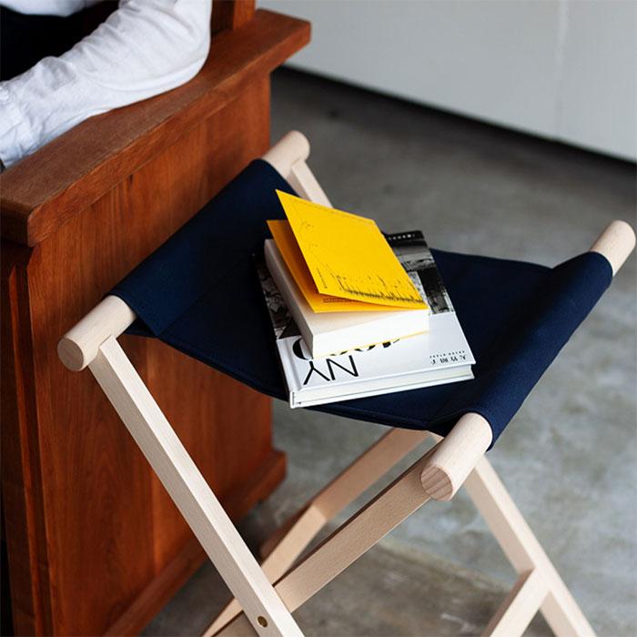 無垢材と国産帆布の折りたたみ椅子