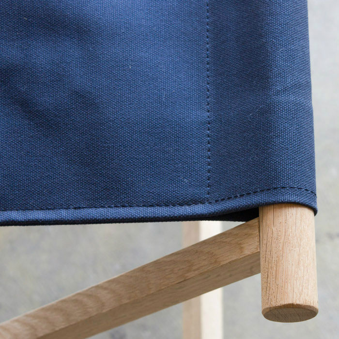 おしゃれな折りたたみ椅子|ネイビー